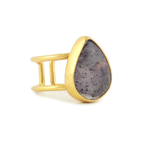 anillo de amatista ajustable | adjustable amethyst ring
