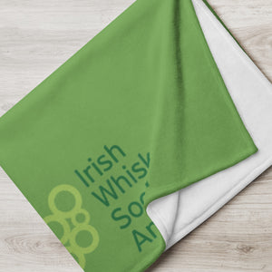 IWSA Logo - Green Throw Blanket