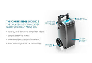 O2 Concepts OxLife Independence - Smallest High-Flow Constant Portable - Free FedEx Shipping!