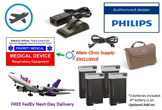 SimplyGo Airline Power Bundle - Free Next Day Overnight FedEx Shipping!