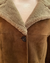 Load image into Gallery viewer, Chocolate Brown Sheepskin Coat UK M