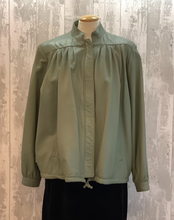 Load image into Gallery viewer, Pale Green Leather Jacket UK 14