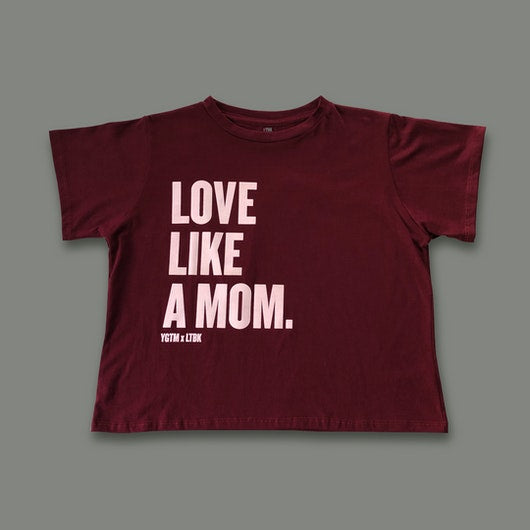 "Boxy T-shirt ""LOVE LIKE A MOM"""