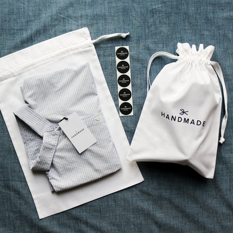 Hand Printed 100% Cotton Gift Bag - Scissors Design