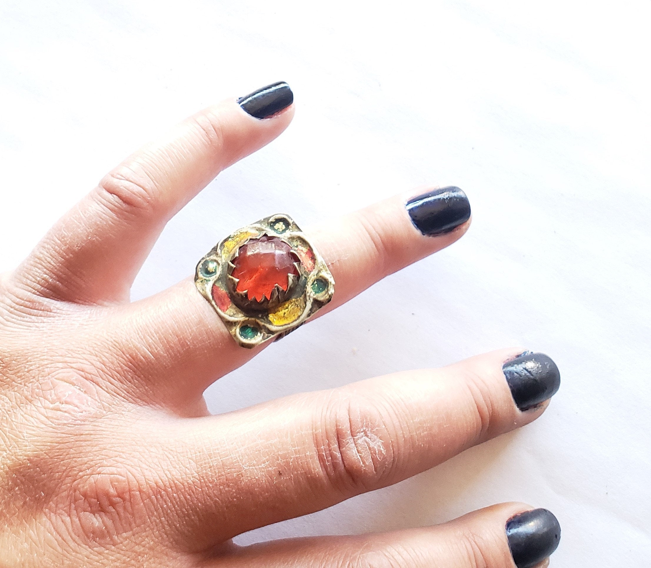 Berber Jewelry Antique Silver Berber Ring from Morocco with Vintage coin Bank Tuareg African Ring Tribal Silver ring Berber Ring Rare Coin