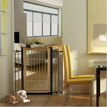 Richell Bamboo One Touch Pet Gate