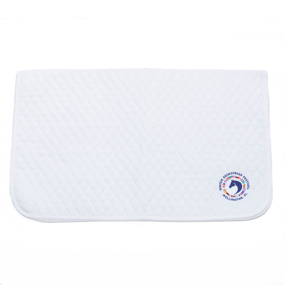 This quilted baby pad features the WEF Flags emblem embroidered on the rear left corner.