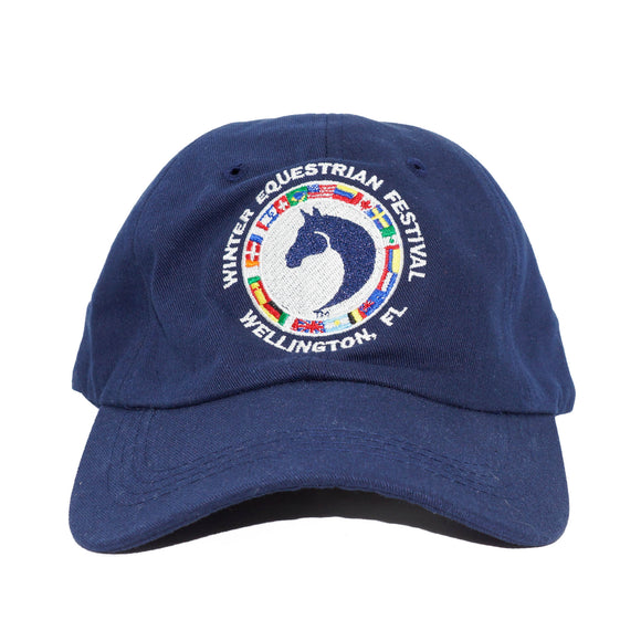 This unstructured cotton ballcap features an adjustable velcro back closure and the WEF Flags emblem is embroidered on the front.