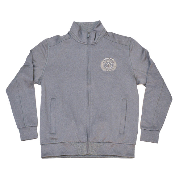 This softshell jacket, made of UPF 15 moisture-wicking fabric features as a cadet collar, hidden front zipper closure, and hidden exterior handwarmer pockets, ribbed hem, and the WEF Crest embroidered on the left side of the chest.