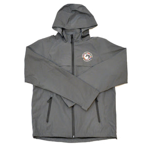 A must-have for any inclement weather, this raincoat is windproof and waterproof! Featuring sealed seams, waterproof zippers on the closure and exterior pockets, a removable hood with storm flap and lockdown drawcord, an open hem with an adjustable locking drawcord, a packable pouch for storage, and the WEF Flags emblem embroidered on the left side of the chest.