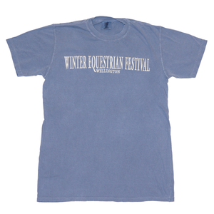 Soft and comfortable, this classic fit short-sleeve t-shirt is uniquely dyed for a distressed look and features the Winter Equestrian Festival, Wellington embroidered across the chest.
