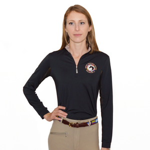 The perfect sunshirt is finally here! Made from UPF 50+ rated performance fabric this fitted sun shirt keeps the wearer cool, dry, and protected, without sacrificing style. Features include sporty mesh undersleeves and a stand-up collar lined with either leopard print or snakeskin, and the WEF Flags emblem embroidered on the left side of the chest.
