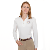 fitted sun shirt keeps the wearer cool, dry, and protected, without sacrificing style. Features include sporty mesh undersleeves and a stand-up collar lined with either leopard print or snakeskin, and the WEF Flags emblem embroidered on the left side of the chest.