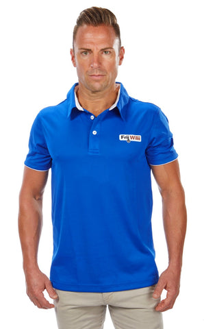 FW Blue/White Golf Shirt