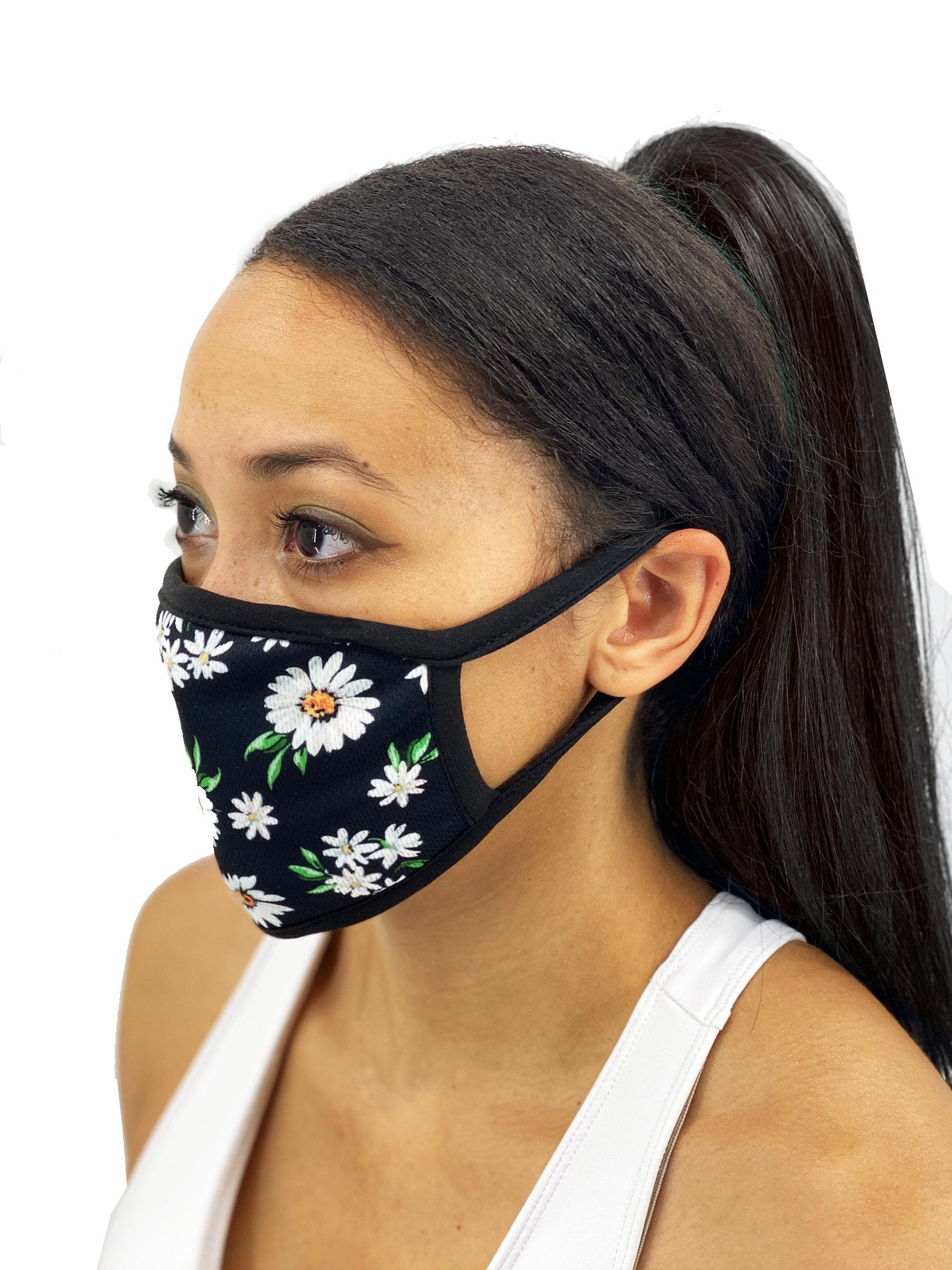 Daisies Face Mask With Filter Pocket