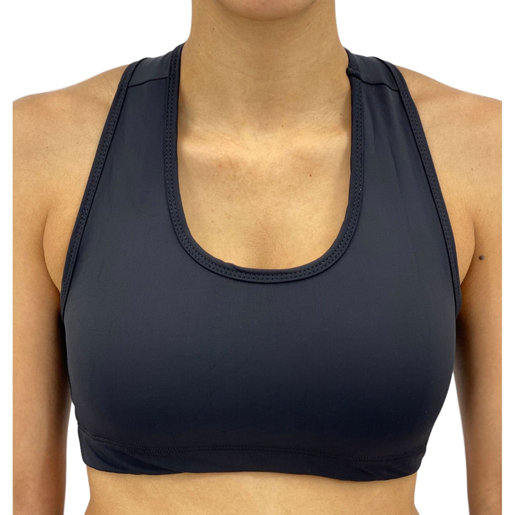 Onyx Solid Color Sports Bra