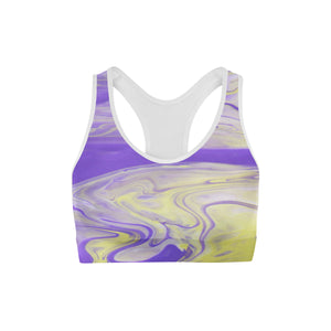 Purple Liquid Sports Bra