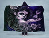 Female Sugar Skull Face Hooded Blanket