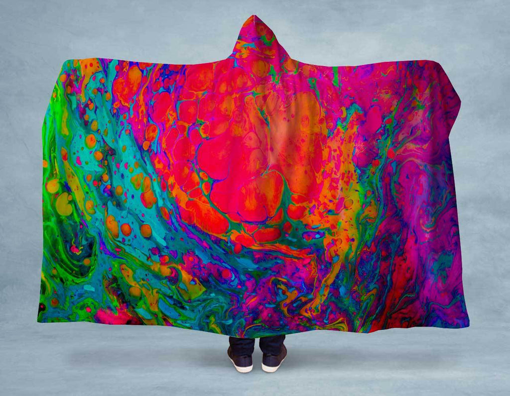 Acrylic Splash NEON Hooded Blanket