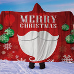 Christmas Beard Hooded Blanket