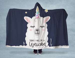 I Am Unicorn Hooded Blanket