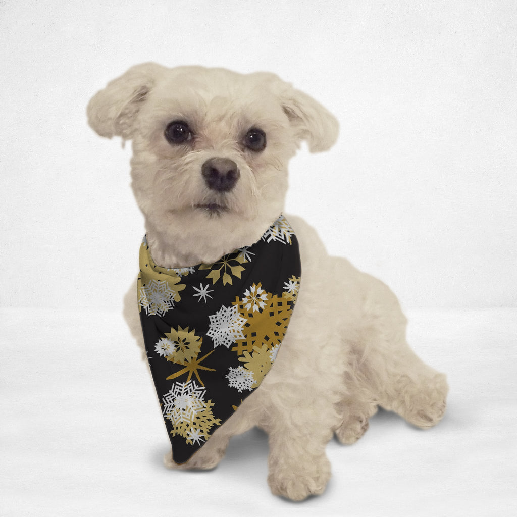 Golden Snowflakes Cat & Dog Bandana