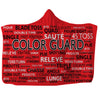 Red Color Guard Hooded Blanket