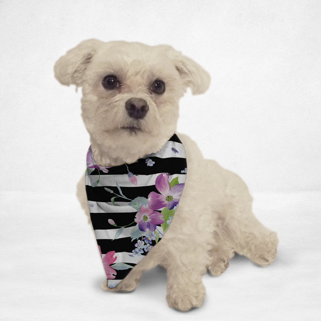 Spring Flowers & Stripes Cat & Dog Bandana