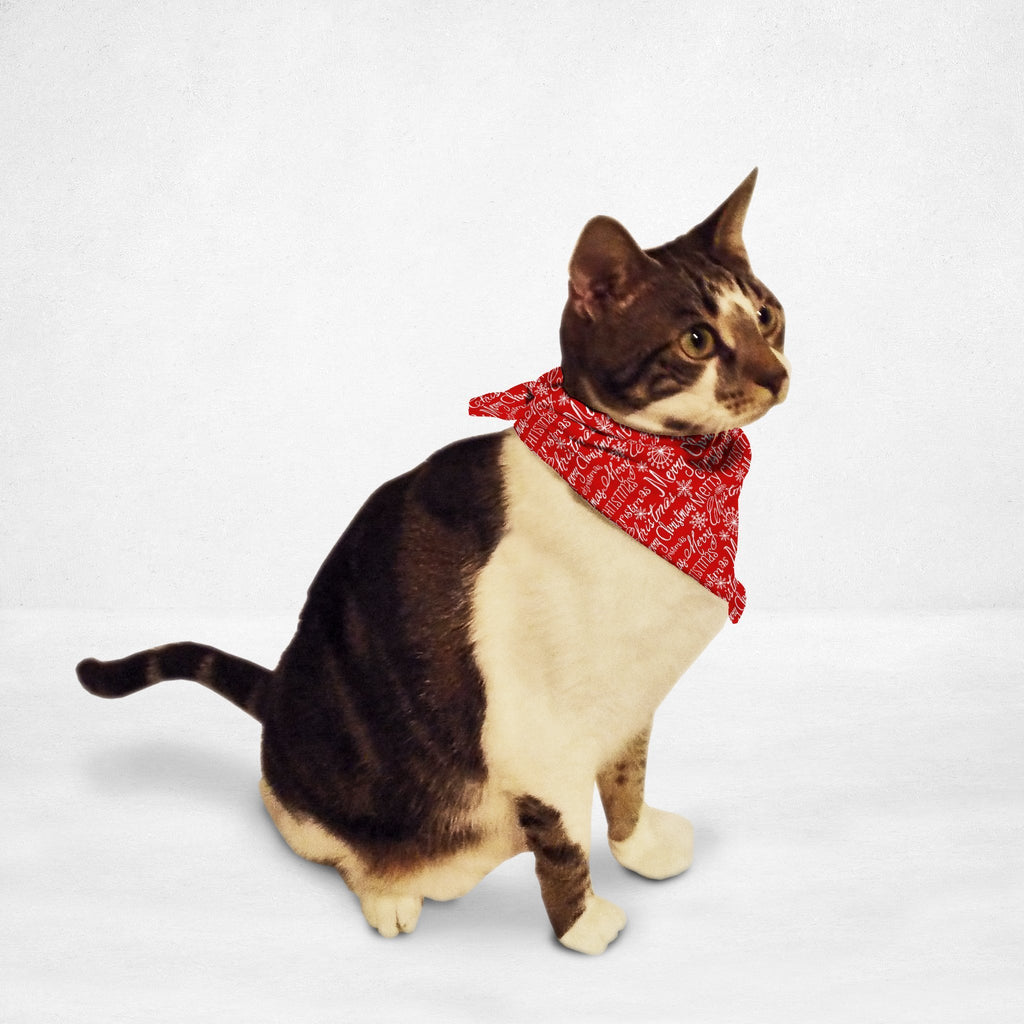 Red Merry Christmas Cat & Dog Bandana