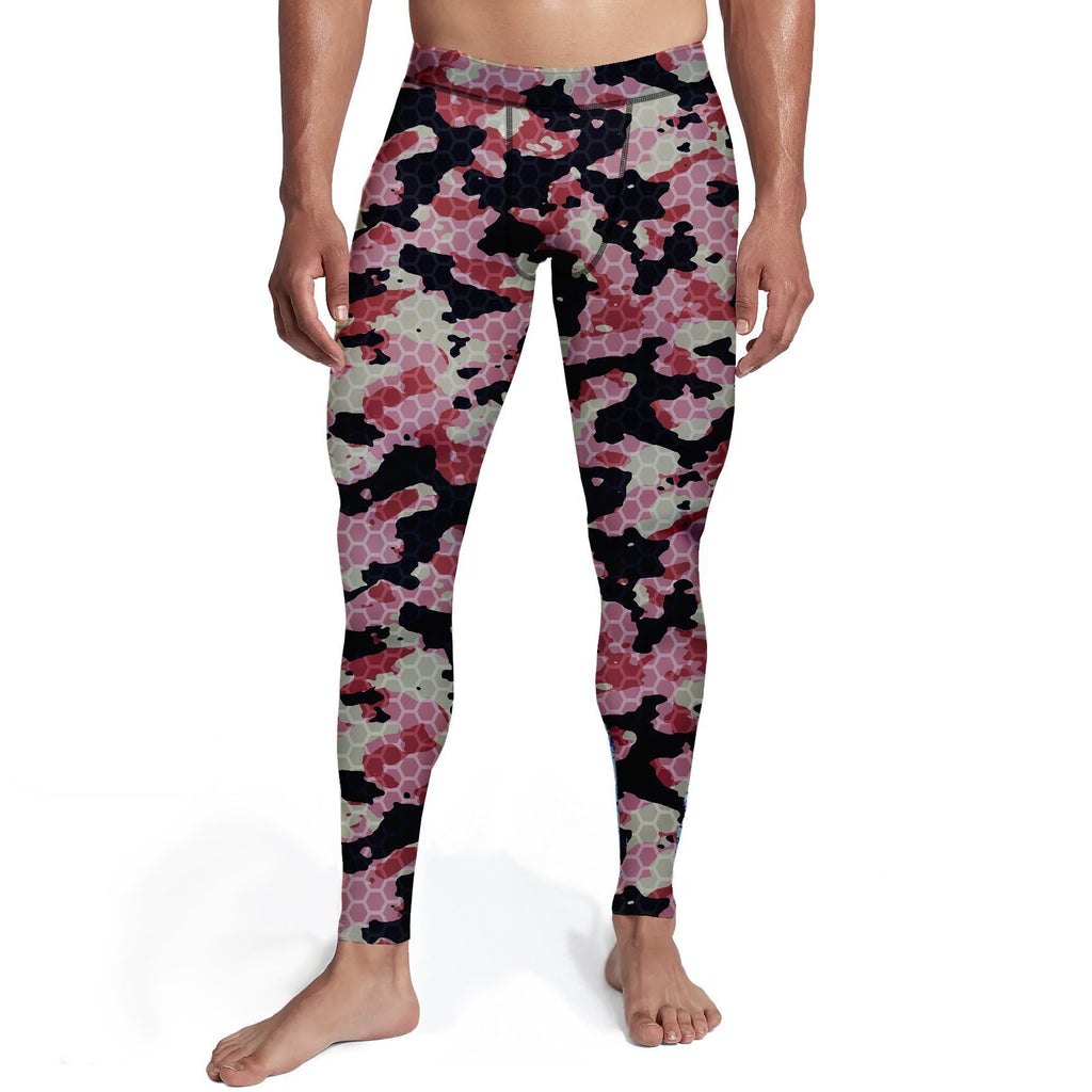 Men's Pink Stone Camo Tights