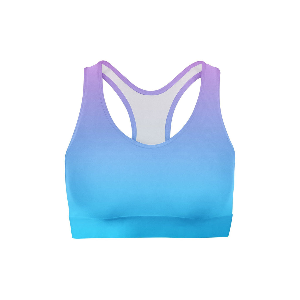 Pink Blue Ombre Sports Bra