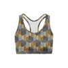 Golden Geometric Sports Bra