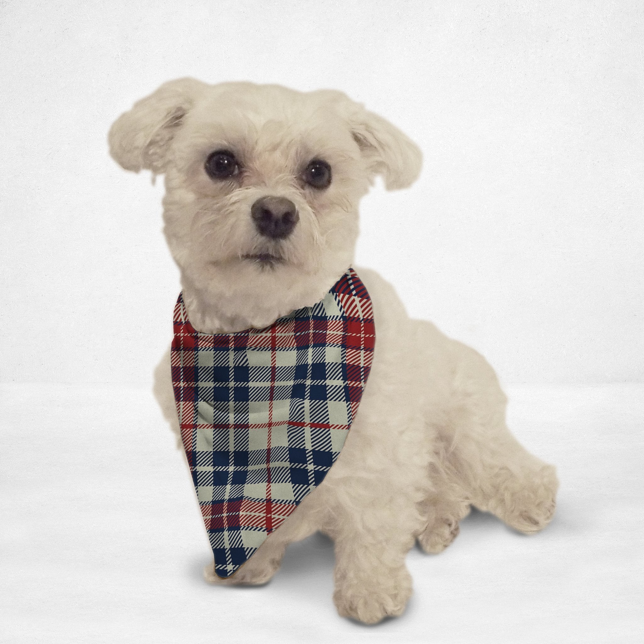 Light Plaid Cat & Dog Bandana