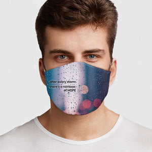 Rainbow of Hope Face Cover