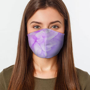 Lilac Flowers Face Cover