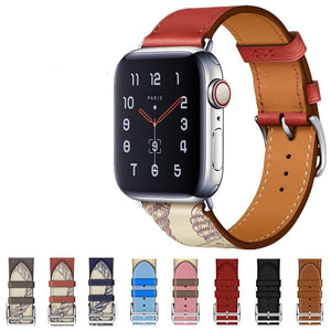 CRESTED Store - Leather Apple Watch Bands - 14 Color Options - 38mm, 40mm, 42mm, 44mm