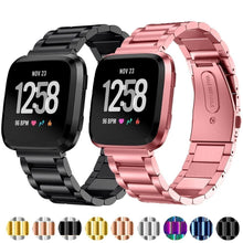 Load image into Gallery viewer, CRESTED Store - Stainless Steel Metal Fitbit Band For Versa, Versa 2, Versa Lite - 9 Color Options