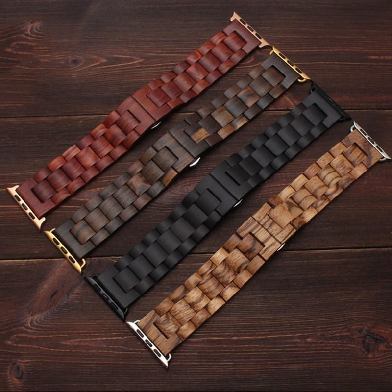 CRESTED Store - Wooden Apple Watch Bands - 4 Color Options - 38mm, 40mm, 42mm, 44mm