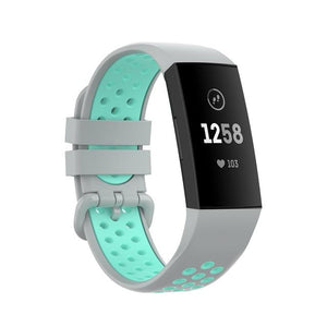 Geekthink - Silicone Fitbit Band For Charge 3 & 4 - 15 Color Options