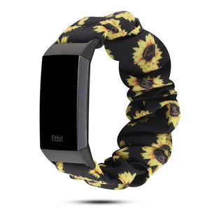 Jollychic - Elastic Scrunchie Fitbit Band For Charge 3 & 4 - Eight Color Options