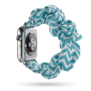 Lcaple - Cloth Scrunchie Apple Watch Bands - 38 Color Options - 38mm, 40mm, 42mm, 44mm