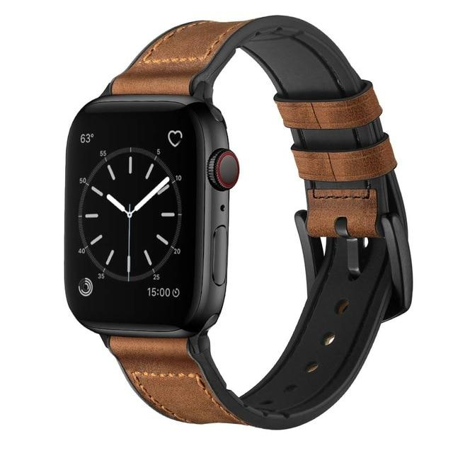 Lcaple - Leather Apple Watch Bands - 4 Color Options - 38mm, 40mm, 42mm, 44mm