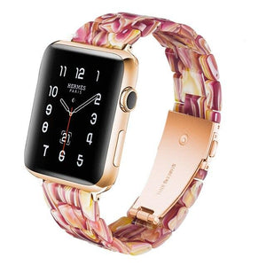 Lcaple - Resin Apple Watch Bands - 35 Color Options - 38mm, 40mm, 42mm, 44mm