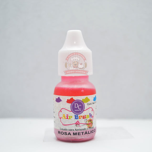 COLOR LIQUIDO METALICO GOTERO 10 ML ROSA METÁLICO