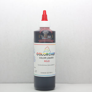 COLOR LÍQUIDO 250ML COLORCHEF ROJO