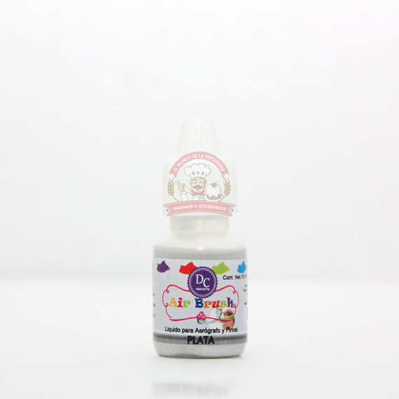 COLOR LIQUIDO METALICO GOTERO 10 ML PLATA