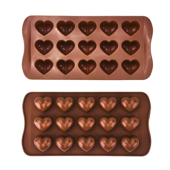 MOLDE SILICON PARA CHOCOLATE FORMA DE CORAZON