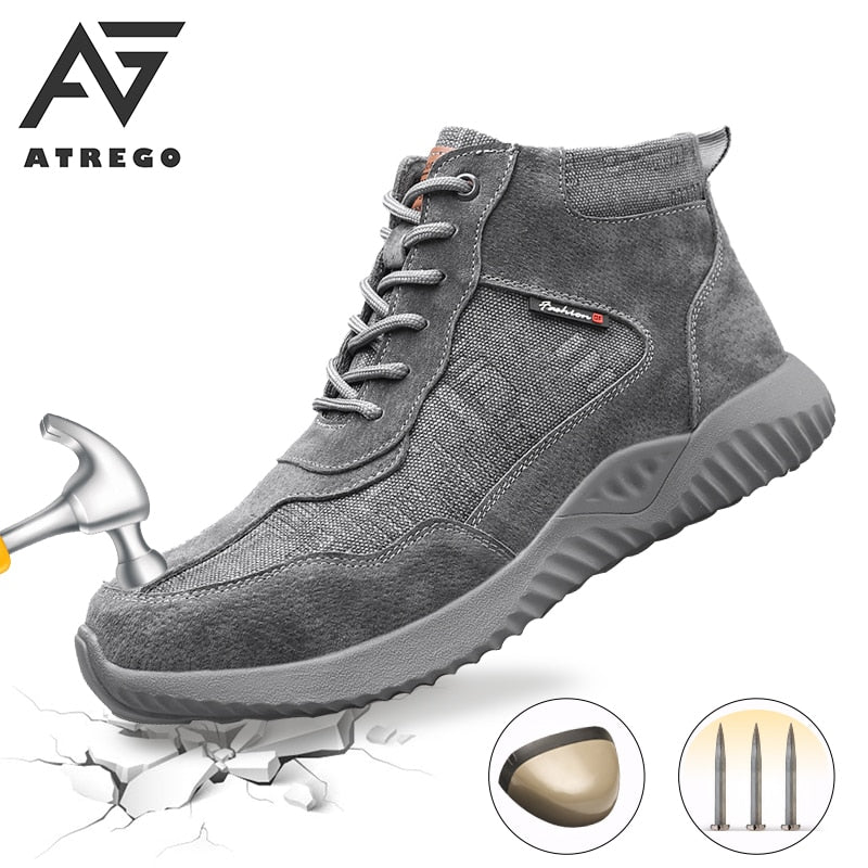 AtreGo Men Safety Canva Ankle Boots