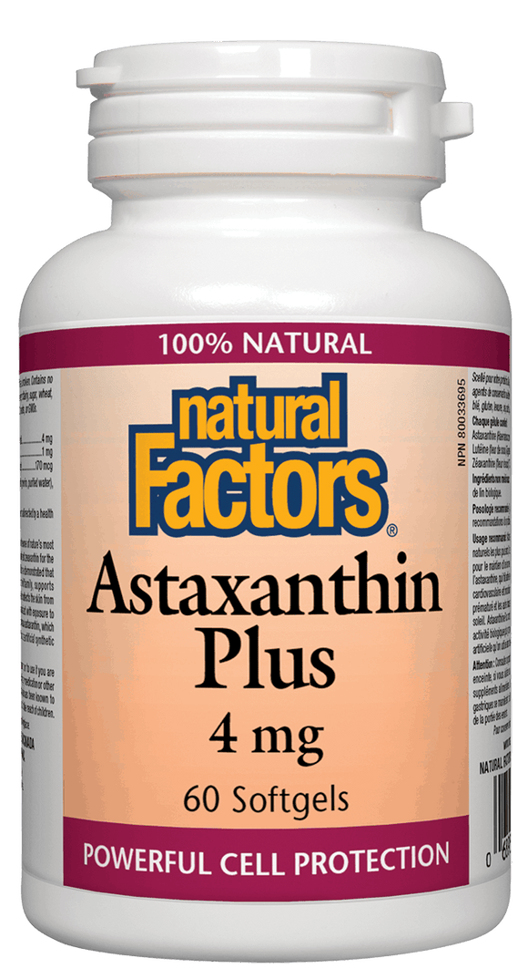 Natural Factors Astaxanthin Plus, 4mg, 60 softgels