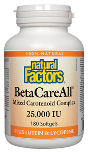 Natural Factors BetaCareAll™, 180 softgels